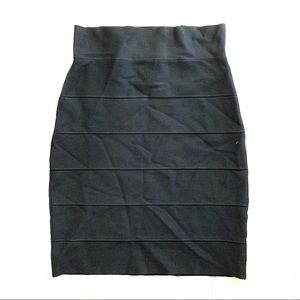Vivienne Tam Bandage Skirt Black Sz Small Stretch